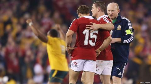 Australia v British Lions second Test Leigh Halfpenny Brian O'Driscoll