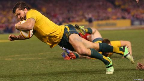 Australia v British Lions second Test Adam Ashley-Cooper