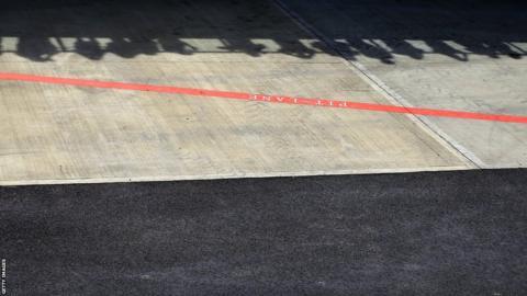 British Grand Prix pit-lane fans
