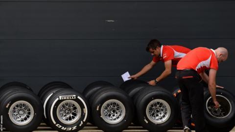 British Grand Prix Ferrari technicians