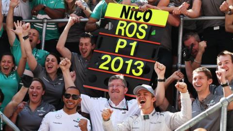British Grand Prix Nico Rosberg celebrates