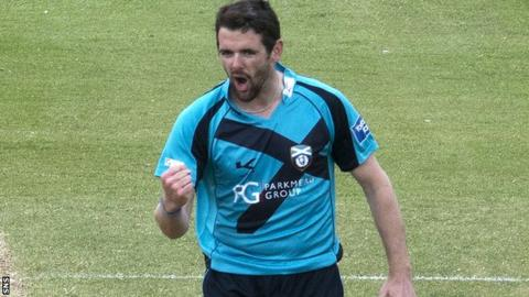 Scotland bowler Gordon Goudie took three wickets
