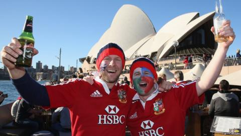 Australia v British and Irish Lions third Test fans