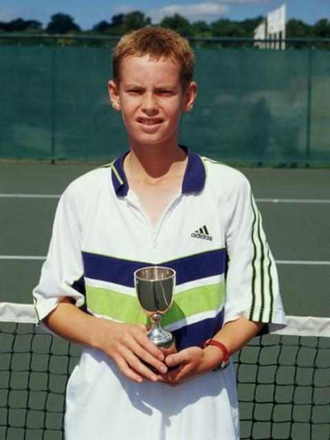 Andy Murray in Nottingham in 1999