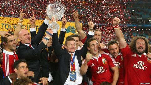 Australia v British and Irish Lions third Test Paul O'Connell Brian O'Driscoll trophy