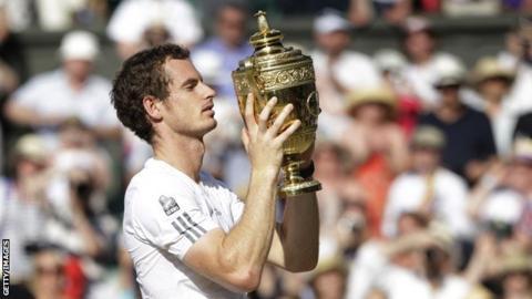 Wimbledon champion Andy Murray