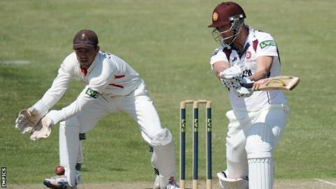 Cameron White batting for Northants