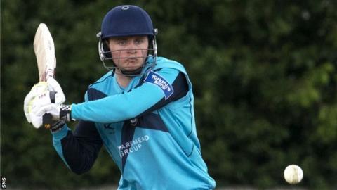 Scotland batsman Ewan Chalmers
