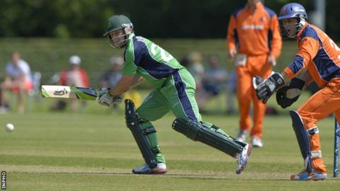 Ed Joyce scored 96 runs for Ireland against the Netherlands