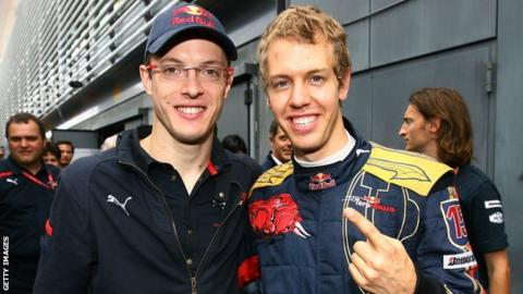 Sebastian Vettel and Sebastien Bourdais