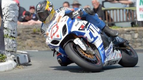 Guy Martin in action at the Southern 100