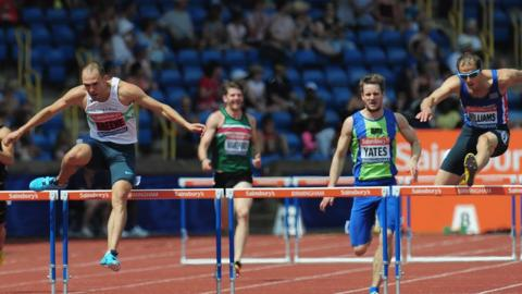 In Saturday's 400m hurdles final, Dai Greene sees off Rhys Williams