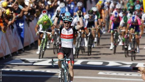 Belgium's Jan Bakelants wins the second stage