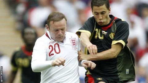 Wayne Rooney and Eden Hazard