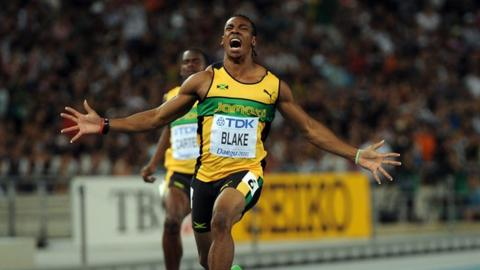 World Athletics 2011: Usain Bolt out before Yohan Blake takes gold