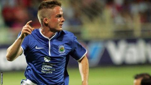 Aaron Burns scored the winning goal in Greece