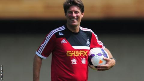Laudrup Swansea City Happy Europa League Draw Bbc Sport