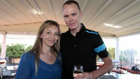 Michelle Cound and Chris Froome