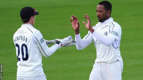 Corey Collymore took three wickets in Sussex's second innings