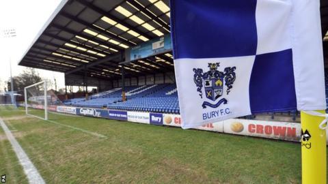 Bury FC corner flag