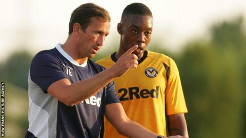 Justin Edinburgh with Ryan Jackson