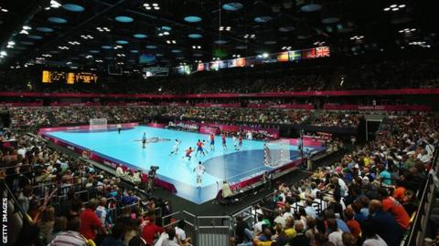 Handball at the Copper Box Arena
