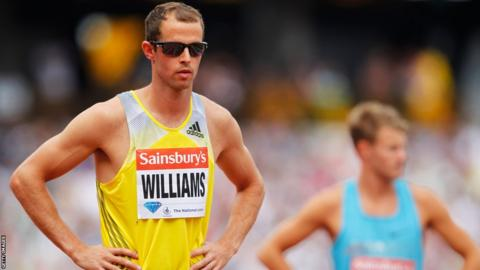 On the second day of the Anniversary Games, European champion Rhys Williams finished sixth in the men's 400m hurdles.