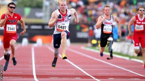 Britain's Jonnie Peacock wins the T44 100m in Lyon