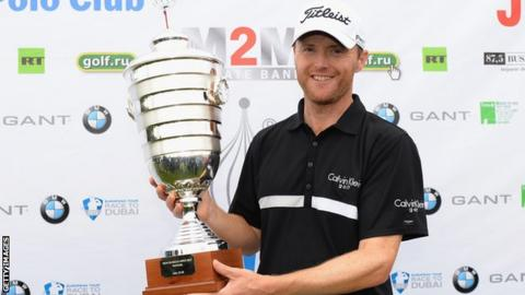 Michael Hoey with the Russian Open trophy