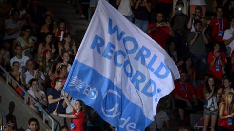 Flag to mark Ruta's world record