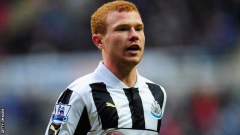 Newcastle forward Adam Campbell