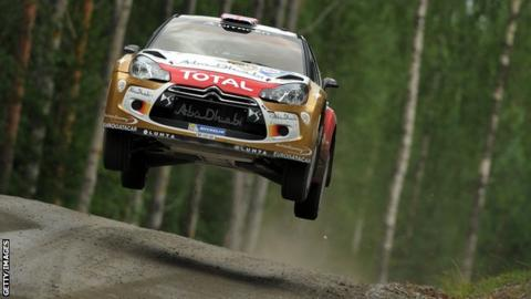 Kris Meeke in action in Rally Finland