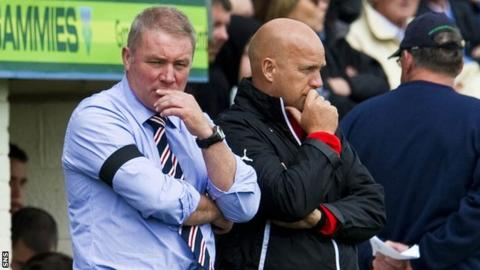 Ally McCoist and assistant Kenny McDowall