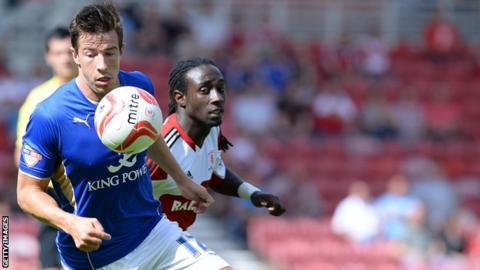 Sean St Ledger in action for Leicester