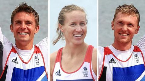 Pete Reed, Helen Glover and Alex Gregory