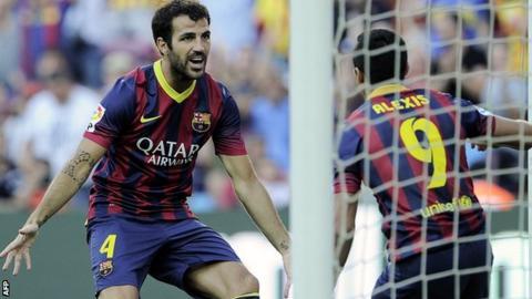 Cesc Fabregas of Barcelona