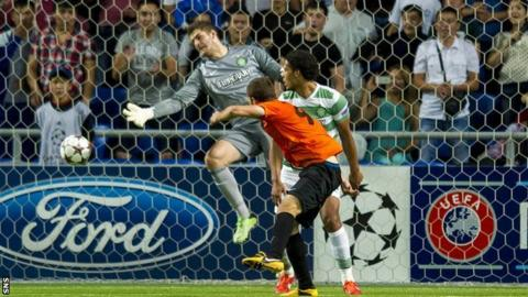 Shakhter score against Celtic