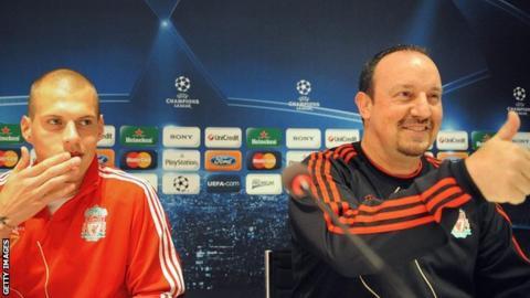 Martin Skrtel and Rafael Benitez