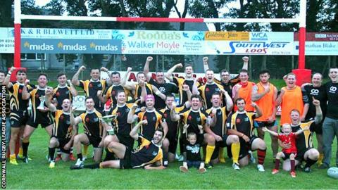 Cornwall celebrate their victory