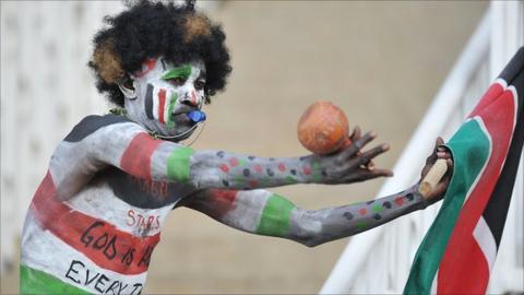 Kenya football fan