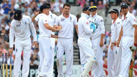 England closed day two of the final Test 460 runs behind at 32-0