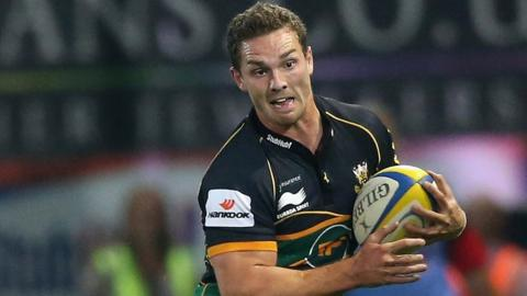 George North was in action for new club Northampton as they beat Edinburgh 24-6 in a pre-season friendly