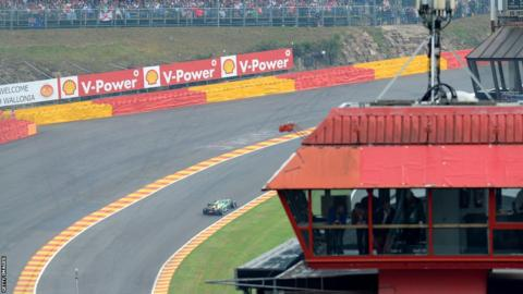 Caterham's French driver Charles Pic drives during the qualifying session