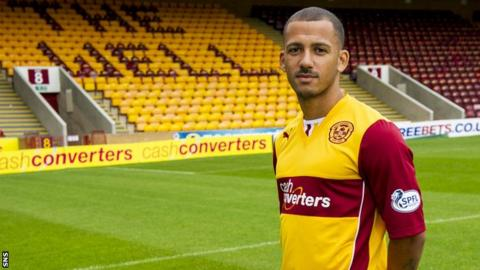 Lionel Ainsworth has joined Motherwell on loan