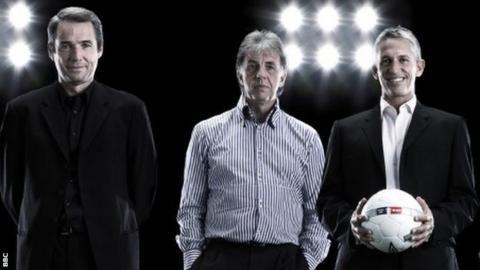 Alan Hansen, Mark Lawrenson and Gary Lineker
