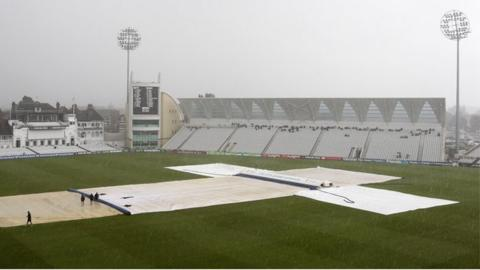 A wet Trent Bridge