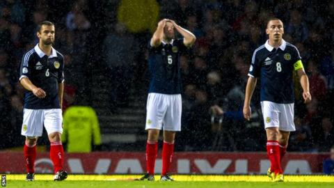 Scotland were outclassed by Belgium