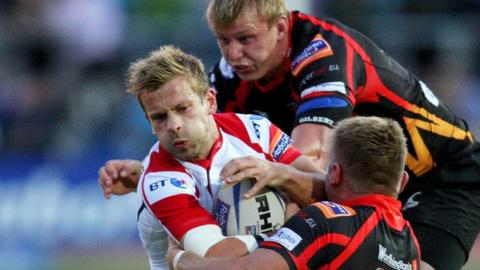 Action from Dragons against Ulster in Newport