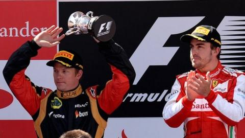 Kimi Raikkonen (left) and Fernando Alonso
