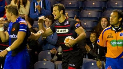 Tim Visser scored the Edinburgh try